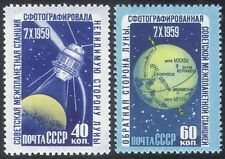 Russia 1960 spazio/luna/LUNIK 3/razzi/Scienza/astronomia 2v Set (n33438)