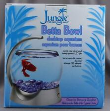 NEW Boxed Jungle Betta Goldfish Bowl Desktop Aquarium Fishtank
