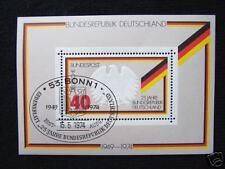 Block  10 ESST Bonn ,  BRD 1974, Nr. 807, 25 Jahre BRD