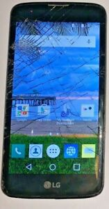 LG Treasure TracFone Black 8GB Smartphone L52VL Fast Ship Broken Glass