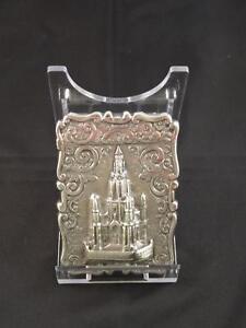 Antique Victorian Silver Castle-Top Card Case, Birmingham, Bent & Parker, C.1870