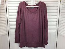 Maurices Mens Sweater Size Large Burgundy Long Sleeve Pull Over Loose