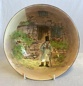 Vintage Royal Doulton Noke 'Gaffers' Footed Large Salad Bowl D4210 19.5cm