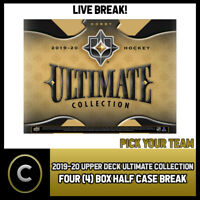 2019-20 UPPER DECK ULTIMATE HOCKEY 4 BOX HALF CASE BREAK #H688 - PICK YOUR TEAM