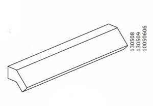 (1) x IKEA # 130508 # 130509 # 10050606 New BrImnes Handle small white