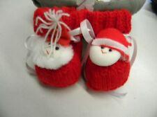 abc broons chausson bébé rouge noel modele unique neuf layette tricot m27