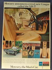 1967 Mercury Cougar XR-7 Large Postcard Brochure Excellent Original 67