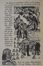 E. L. Kirchner O. Holzschnitt ERNTE