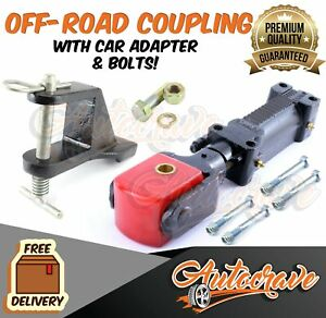 Off Road Trailer Coupling Poly Block Override Hitch Car Adapter HIGH TENSILE