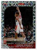 2019-20 NBA Hoops Premium Stock Laser Prizm #231 Admiral Schofield RC Wizards