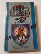 Grail Quest 4 | Voyage Of Terror J.H. Brennan 1st Dell 1987 CYOA