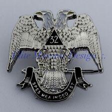 Masonic 32nd Degree Scottish Rite, lapel pin, Silver Tone.