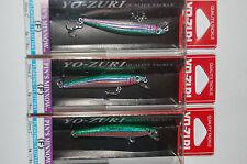 """3 lures yo zuri pins pin's minnow f196-m99  2"""" 1/16oz rainbow trout"""