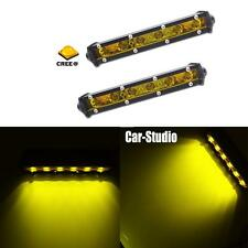 2x Golden Yellow 6-CREE XBD LED Lights Bar Flood Mini Work  For SUV Pickup Truck