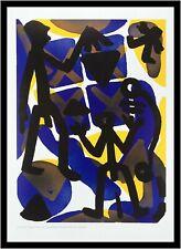 A.R. Penck Vergleich Poster Kunstdruck Bild mit Alu Rahmen in schwarz 70x50cm