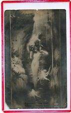 RPPC,SEXUAL FANTASY,NUDE EROTIC EMBRACE IN DREAMSCAPE 1910-FOREIGN