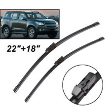 """Pair Front Windscreen Wiper Blades Fit For Holden Colorado 7 2012-2017 22""""18"""""""