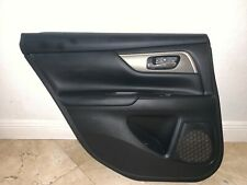 2013-2015 NISSAN ALTIMA  SL LEFT REAR DOOR PANEL INTERIOR W/ HANDLE AND SWITCH