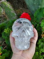 Large Quartz Crystal Skull Brazilian carved quartz (over 3 pounds!)