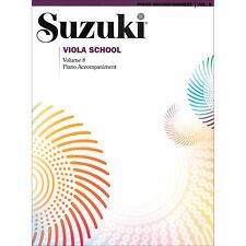 Suzuki Viola School - Volume 8 - Piano Accompaniment Book - Authorized Dealer!