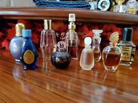 Vintage Perfume Miniature Bottles-Lot Of 9- Poison, Chantilly And Others