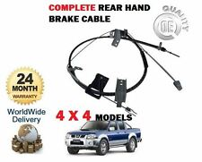 FOR NISSAN 2.5 D22 PICKUP NAVARA 2001-2008 NEW REAR HAND BRAKE CABLE COMPLETE