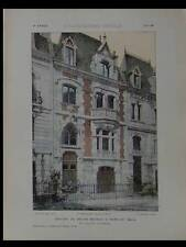 NEUILLY, HOTELS PARTICULIERS - PLANCHES ARCHITECTURE 1905 - PUTEAUX, ORADOUR