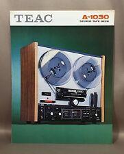 Original TEAC A-1030 Stereo Tape Deck Full Color Advertising Sales Brochure