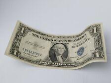 $1 DOLLAR Silver Certificate 1935 F BLUE SEAL Uneven Print Error No Motto USA