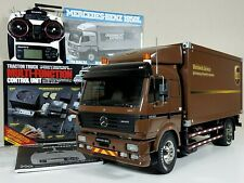 Custom Tamiya 1/14 RC Mercedes Benz 1850L UPS Delivery Truck+ Sanwa +MFC-01 Unit