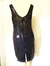 #17 Kleines Schwarzes Abendkleid 100% Seide mit Pallietten bestickt elegant chic