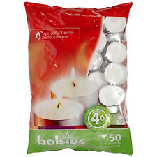 Bolsius Tealights 4 Hour Burn Time Bag of 50