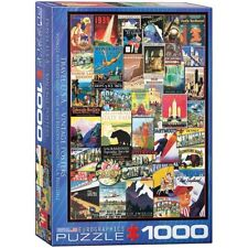 Eurographics 60000754 Jigsaw Puzzle 1000 Piece Travel USA Vintage Poster