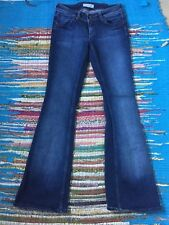 Topshop Moto Jeans Kick Flare Bootleg Fray Ourlet jambe large Blogger W28 L33 Tall