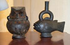 Precolumbian Peruvian vase and vessel