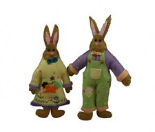 Gisela Graham Boy & Girl Bunny Decorations - Easter Decorations - Felt Bunnies