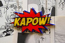 Kapow Necklace - Rockabilly Vintage 50s Pin Up Comic Book Anime Super Hero