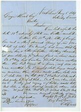 1849 Letter from New Orleans E & E Davis to George Howe of Boston