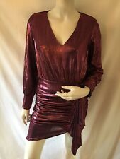 Topshop Metallic Pink Mini Dress Size 6