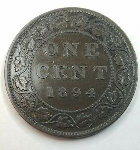 1894 Canada Large Cent BETTER DATE Fine-VF