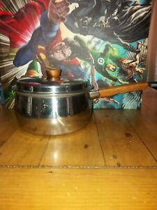 Prestige Stainless Steel Copper Bottom Saucepan wooden handle