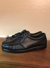 IRON AGE STEEL TOE SHOES-VINTAGE NEW OLD STOCK BLACK LEATHER-MADE IN USA 12 WIDE