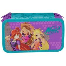 WINX CLUB Three-story TRIPLE PENCIL CASE - FULLY EQUIPED - High Quality NEW tags