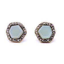 Verde Azul Pálido E26 Estilo Vintage Geométrico Cristal Aretes
