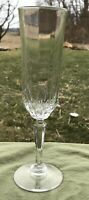Vintage Lead Crystal Tall Champagne Glass Flute 8 1/2 X 2 1/2
