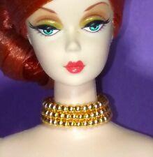 Barbie Dreamz GOLD PEARL CHOKER Triple Strand Necklace Doll Jewelry