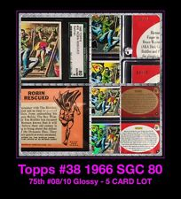 '66 5 CARD LOT VTG BATMAN ROBIN Adam West PSA 2013 Topps 75th GLOSSY SGC diamond