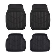 Universal Car Floor Mat Black Leather Waterproof 4 pcs Anti-slip Front Rear