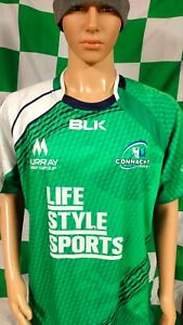 Connacht Rugby Official BLK Rugby Union Jersey Shirt (Adult XL)