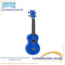 Mahalo Rainbow Series Soprano Ukulele with Carry Bag - Blue Uke - MR1BU